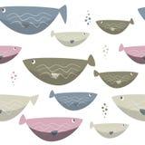 Η άνευ ραφής θάλασσα αλιεύει το απλό σχέδιο Υπόβαθρο άγριας φύσης Στοκ Εικόνα
