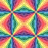 Η άνευ ραφής κρητιδογραφία χρωμάτισε το Polygonal σχέδιο Γεωμετρικό αφηρημένο υπόβαθρο ουράνιων τόξων Στοκ Φωτογραφίες