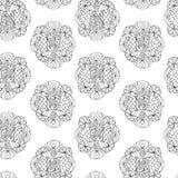 Η άνευ ραφής Zen -Zen-doodle Στοκ εικόνες με δικαίωμα ελεύθερης χρήσης
