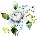Η άνοιξη ανθίζει watercolour την απεικόνιση διανυσματική απεικόνιση