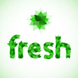 Η άνοιξη βγάζει φύλλα τη φρέσκια λέξη διανυσματική απεικόνιση