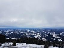 Η άποψη από την κορυφή του βουνού Στοκ φωτογραφία με δικαίωμα ελεύθερης χρήσης