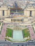 Η άποψη από τον πύργο του Άιφελ στο Παρίσι Στοκ Εικόνες
