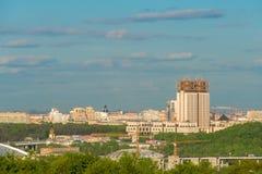 Η άποψη από τους λόφους σπουργιτιών στη ρωσική ακαδημία των επιστημών Στοκ φωτογραφία με δικαίωμα ελεύθερης χρήσης