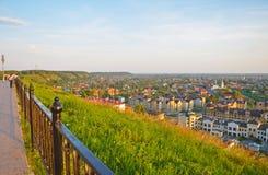 Η άποψη από τους λόφους του Piedmont μέρους της πόλης Tobo Στοκ Εικόνες