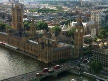 Η άποψη από το μάτι του Λονδίνου Στοκ Φωτογραφίες