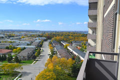 Άποψη από το υψηλό κτήριο ανόδου. Στοκ Εικόνες