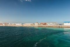 Η άποψη από το σκάφος στην ακτή Mahdia Στοκ εικόνα με δικαίωμα ελεύθερης χρήσης