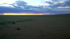Η άποψη από το υπερσιβηρικό τραίνο σε Ulaanbaatar, Μογγολία απόθεμα βίντεο