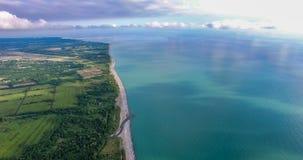 Η άποψη από το ύψος στην επιφάνεια της γης στοκ εικόνα με δικαίωμα ελεύθερης χρήσης