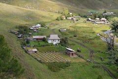 Η άποψη από το ύψος του εδάφους Generalka Altai ορεινών χωριών Δυτική Σιβηρία r στοκ φωτογραφίες με δικαίωμα ελεύθερης χρήσης