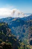 Η άποψη από το pico κάνει Arieiro στο πορτογαλικό νησί Madeir Στοκ Εικόνες