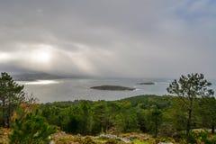 Η άποψη από Monteferro - Panxon Στοκ εικόνα με δικαίωμα ελεύθερης χρήσης