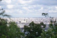 Η άποψη από Montmartre Στοκ Εικόνα