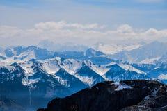 Η άποψη από Pilatus στην Ελβετία, τοποθετεί Pilatus 2128 μ στοκ εικόνα