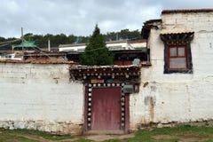 Η άποψη γύρω από το ναό Taktsa σε Zoige Τυχερός ότι αυτή η θέση είναι στοκ εικόνες