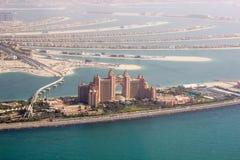 Η άποψη ελικοπτέρων φοινικών Atlantis Στοκ Εικόνες