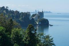 Η άποψη θάλασσας από τους βοτανικούς κήπους σε Batumi, Γεωργία Στοκ φωτογραφία με δικαίωμα ελεύθερης χρήσης