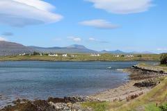 Η άποψη κοντά σε Bunessan, θερμαίνει, Σκωτία στοκ εικόνες