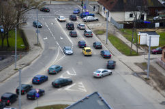 Η άποψη οδών, σταυροδρόμι Στοκ Εικόνα