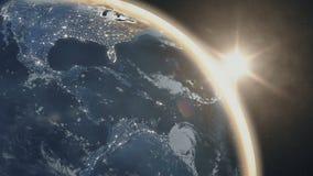 Η άποψη πλανήτη Γη μας από το διάστημα απόθεμα βίντεο