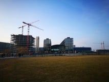Η άποψη πρωινού της πόλης του Βερολίνου Στοκ Εικόνες