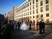 Η άποψη πρωινού της πόλης του Βερολίνου Στοκ φωτογραφία με δικαίωμα ελεύθερης χρήσης