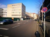 Η άποψη πρωινού της πόλης του Βερολίνου Στοκ Φωτογραφίες
