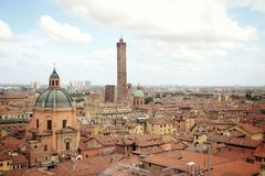 Η άποψη της κορυφής της Μπολόνιας, Ιταλία στοκ φωτογραφία με δικαίωμα ελεύθερης χρήσης
