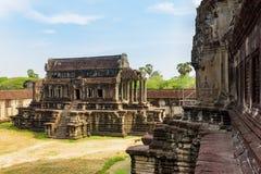 Η άποψη της οικοδόμησης βιβλιοθηκών Angkor Wat σε Siem συγκεντρώνει, Καμπότζη Στοκ εικόνα με δικαίωμα ελεύθερης χρήσης
