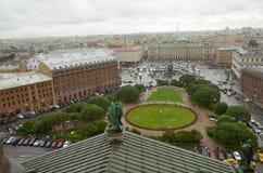 Η άποψη της πόλης από το ύψος Στοκ εικόνες με δικαίωμα ελεύθερης χρήσης