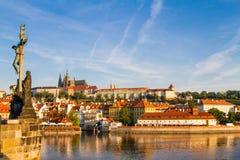 Η άποψη του ιστορικού τετάρτου Hradschin στην Πράγα Στοκ φωτογραφία με δικαίωμα ελεύθερης χρήσης