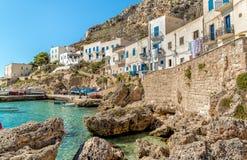 Η άποψη του νησιού Levanzo, είναι η μικρότερη των τριών νησιών Aegadian στη Μεσόγειο της Σικελίας, Ιταλία στοκ φωτογραφίες