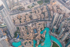 Η άποψη του Ντουμπάι από την κορυφή στοκ εικόνα με δικαίωμα ελεύθερης χρήσης