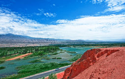 Η άποψη του οδηγού, Qinghai 3 Στοκ Εικόνες