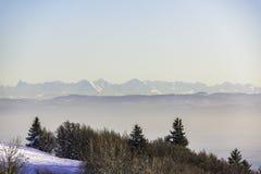 Η άποψη των Άλπεων διαμορφώνει τα βουνά Vosges Στοκ φωτογραφίες με δικαίωμα ελεύθερης χρήσης