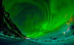 Η άποψη των νησιών Lofoten κατά τη διάρκεια του χειμώνα είναι ένα όνειρο για όλους τους φωτογράφους τοπίων Αυτή τη στιγμή του έτο Στοκ Φωτογραφίες