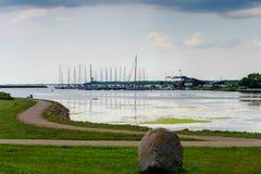 Η άποψη όμορφου βλέπει το τοπίο σε Saaremaa, Εσθονία στοκ εικόνες με δικαίωμα ελεύθερης χρήσης
