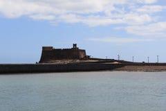 Η άποψη Castillo de SAN Gabriel εντόπισε Arrecife Στοκ Εικόνα