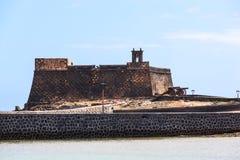 Η άποψη Castillo de SAN Gabriel εντόπισε Arrecife Στοκ Φωτογραφίες