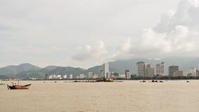 Η άποψη Nha Trang κεντρικός, Nha Trang είναι μια παράκτια πόλη και ένα κεφάλαιο που βρίσκονται στο νότιο Central Coast του Βιετνά απόθεμα βίντεο