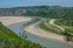 Η άποψη odeceixe-χαλά την παραλία σε Aljezur, Πορτογαλία Στοκ Εικόνες