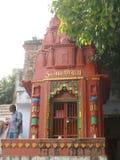 Η λάρνακα οδών Shiva κοντά σε Assi Ghat Varanasi Ινδία στοκ εικόνες με δικαίωμα ελεύθερης χρήσης