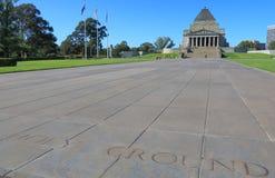 Η λάρνακα της ενθύμησης Μελβούρνη Αυστραλία Στοκ Φωτογραφία