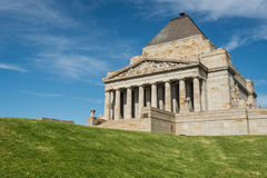Η λάρνακα της ενθύμησης Πρώτος Παγκόσμιος Πόλεμος & ΙΙ αναμνηστικό μέρος στη Μελβούρνη, Αυστραλία Στοκ φωτογραφίες με δικαίωμα ελεύθερης χρήσης