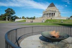 Η λάρνακα της ενθύμησης Πρώτος Παγκόσμιος Πόλεμος & ΙΙ αναμνηστικό μέρος στη Μελβούρνη, Αυστραλία Στοκ εικόνα με δικαίωμα ελεύθερης χρήσης