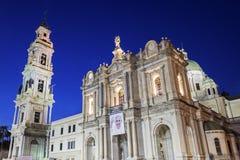 Η λάρνακα της Virgin Rosary της Πομπηίας Στοκ φωτογραφία με δικαίωμα ελεύθερης χρήσης