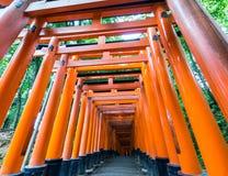 Η λάρνακα Fushimi Inari στο Κιότο στοκ φωτογραφίες με δικαίωμα ελεύθερης χρήσης