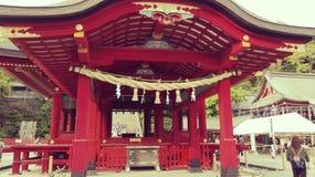 Η λάρνακα Hachimangu Shinto Tsurugaoka στην Ιαπωνία Στοκ φωτογραφίες με δικαίωμα ελεύθερης χρήσης
