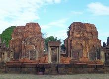 Η λάρνακα Hin Muang Tam Prasat σύνθετη, ο καλά συντηρημένος Khmer ναός στην Ταϊλάνδη Στοκ Εικόνες